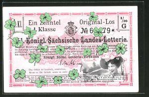 AK Los der Königl. Sächsische Landes-Lotterie