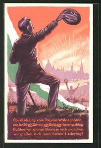 Künstler-AK Dresden, 1. Sächsisches Sängerbundes-Fest 1925,