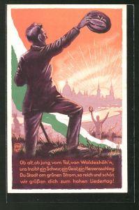 AK Dresden, 1. Sächsisches Sängerbundes-Fest 1925, Ortsansicht