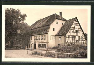 AK Detwang bei Rothenburg, Gasthaus zum schwarzen Lamm
