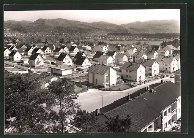 AK Seeheim an der Bergstrasse, Neue Siedlung aus der Vogelschau