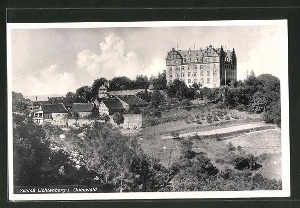 AK Lichtenberg / Odw, Sicht auf das Schloss