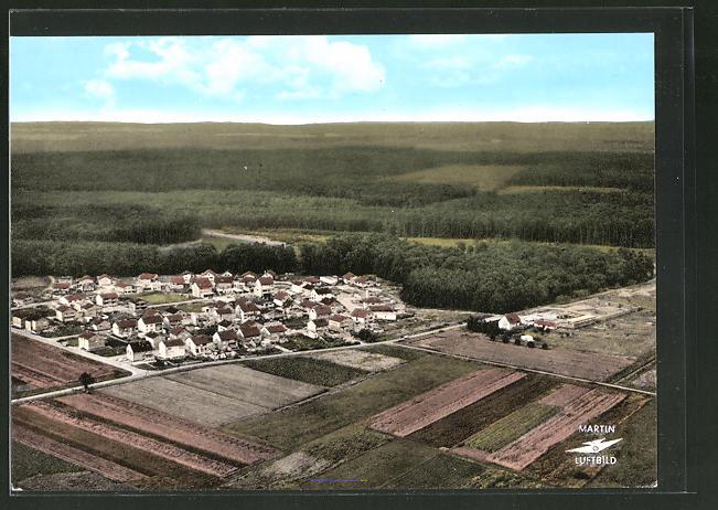 AK Eppertshausen, Siedlung aus der Vogelschau