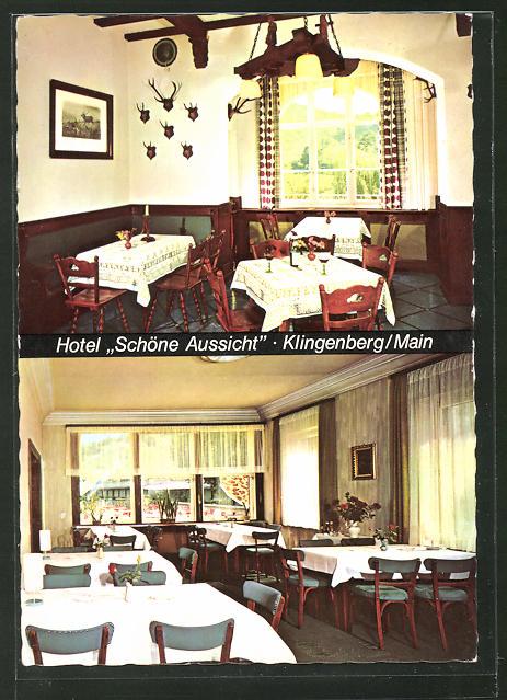 Ak Klingenberg Main Hotel Schone Aussicht Innenansichten