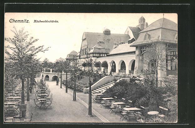 AK Chemnitz, Küchwaldschenke, Gartenpartie