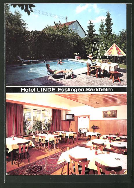 AK Esslingen-Berkheim, Hotel-Restaurant Linde-Berkheim, Ruiterstrasse 2