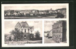 AK Büchenbeuren / Rheinland, Gasthaus Gass, Postamt, Totalansicht
