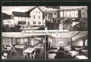 AK Langenei / Sauerland, Pension und Gasthaus Heinr. Schweinsberg