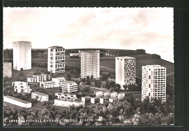AK Berlin, Intern. Bauausstelling 1957, Hochhäuser im Hansaviertel