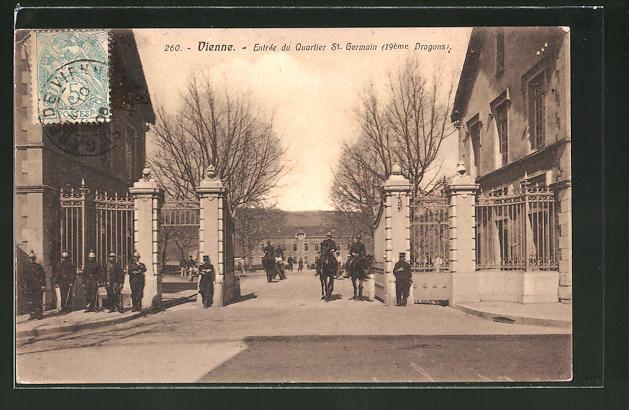 AK Vienne, Entrée du Quartier St. Germain (19. Dragons)