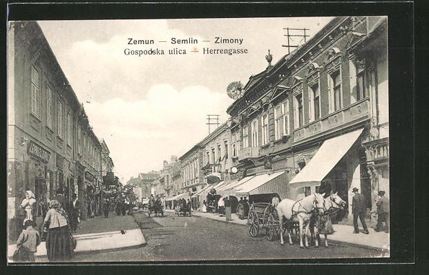AK Zemun / Semlin, Gospodska ulica / Herrengasse