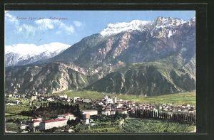 AK Levico Valsugana, Ortsansicht mit Bergpanorama