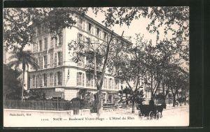AK Nice, Hotel du Rhin, Boulevard Victor-Hugo