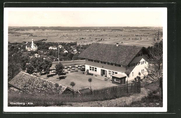 AK Pähl, Blick zum Gasthaus Hirschberg