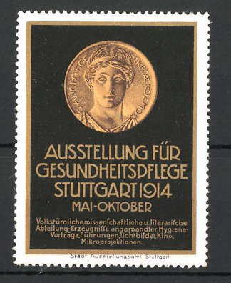 Reklamemarke Stuttgart Ausstellung Für Gesundheitspflege 1914 Alte