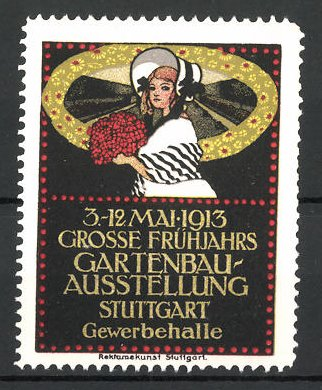 Gartenbau Stuttgart reklamemarke stuttgart grosse frühjahrs gartenbau ausstellung 1913