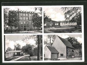 AK Frankfurt-Bockenheim, St. Elisabethenkrankenhaus, Wirtschaftsgebäude, Krankenabteilung