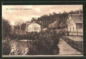 AK Dresden-Dresdner Heide, Gasthof Haidemühle bei Langebrück