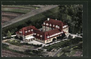 AK Schmie / Mühlacker, Evang. Jugenhaus vom Flugzeug aus