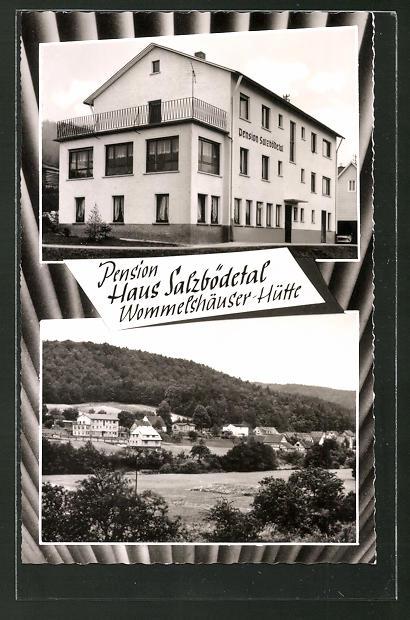 AK Wommelshäuser-Hütte, Pension Haus Salzbödetal, Ortsansicht