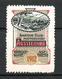 Reklamemarke Maffersdorf, Ausstellung künstlerischer Aufnahmen 1912, Ortsansicht