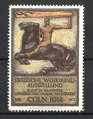reklamemarke k ln deutsche werkbund ausstellung 1914 messelgogo nr 7827818 oldthing siegel. Black Bedroom Furniture Sets. Home Design Ideas