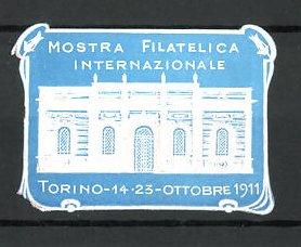 Präge-Reklamemarke Torino, Mostra Filatelica Internazionale 1911, Ausstellungshalle