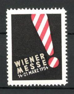 Reklamemarke Wien, Wiener Messe 1954