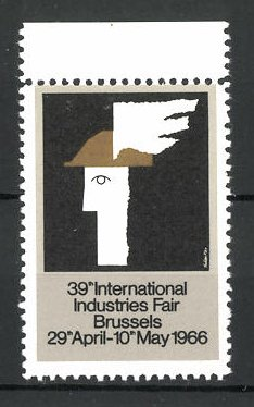 Reklamemarke Brussels, 39th International Industries Fair 1966, Messelogo