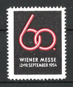 Reklamemarke Wien, Wiener Messe 1954, Messelogo