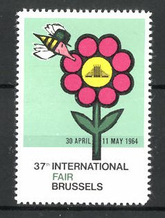 Reklamemarke Brussels, 37th International Fair 1964, Messelogo