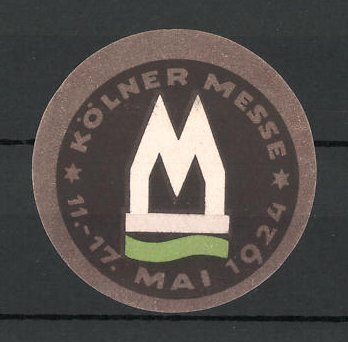 Reklamemarke Köln, Kölner Messe 1924, Messelogo