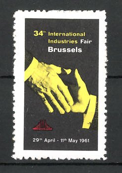 Reklamemarke Brussels, 34th International Industries 1961, Messelogo