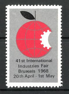 Reklamemarke Brussels, 41st international Industries Fair 1968, Messelogo