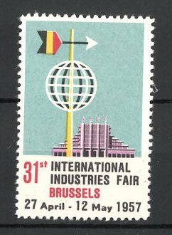 Reklamemarke Brussels, 31st International Industries Fair 1957, Messelogo