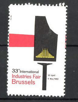 Reklamemarke Brussels, 33rd International Fair 1960, Messelogo