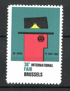 Reklamemarke Brussels, 36th International Fair 1963, Messelogo