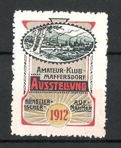 Reklamemarke Maffersdorf, Kunst-Ausstellung 1912, Ortsansicht