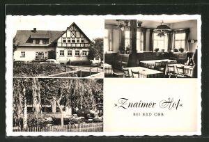 AK Bad Orb-Lettgenbrunn, Gasthaus Znaimer Hof