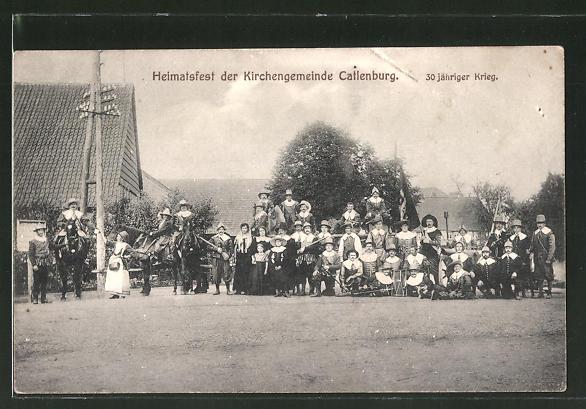 AK Catlenburg, Heimatsfest der Kirchengemeinde, Trachtengruppe 30 jähr. Krieg