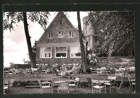 AK Bad Driburg, Gasthaus Sachsenklause auf der Iburg