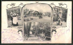 AK Wien, Wiener Prater, F. Plankenbüchler's Cafe-Restaurant
