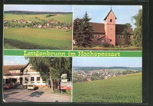 AK Jossgrund-Lettgenbrunn / Spessart, Cafe und Pension Znaimer Hof, Ortsansicht