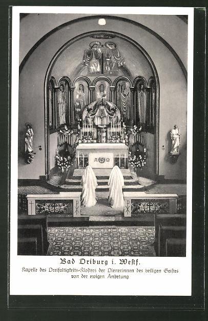 AK Bad Driburg i. Westf., Kapelle des Dreifaltigkeits-Klosters der Dienerinnen des heilgen Geistes
