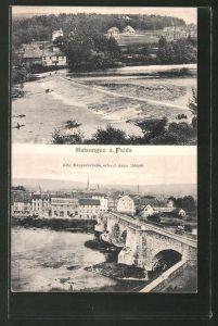 AK Melsungen a. Fulda, Panorama & Alte Bürgerbrücke
