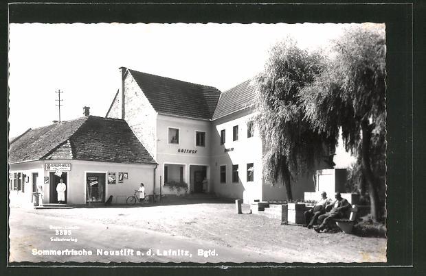 AK Neustift a. d. Lafnitz, Gasthaus Roller, Kaufhaus Kau Wappel