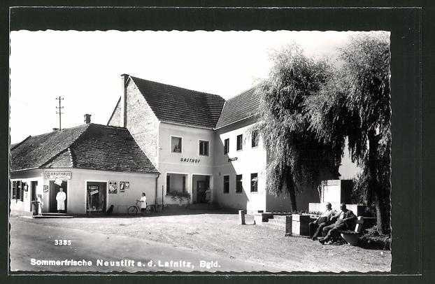 AK Neustift a. d. Lafnitz, Gasthof Roller & Kaufhaus Kau Wappel
