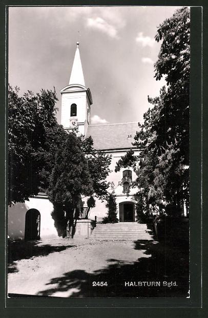 AK Halbturn, Blick auf Kirche
