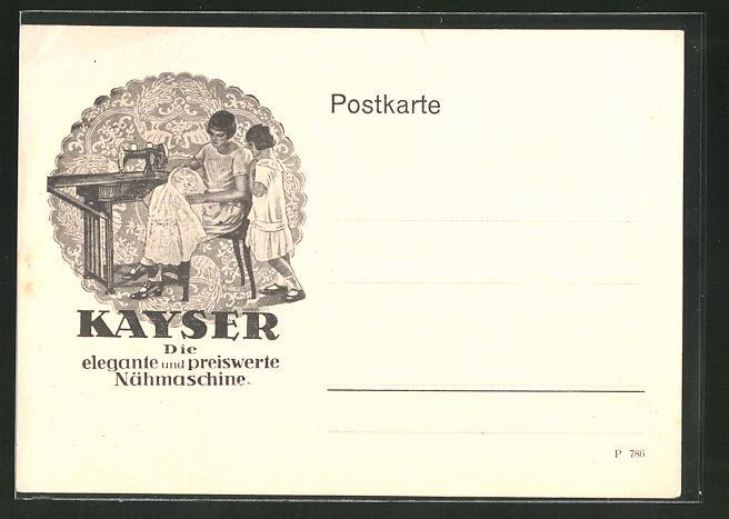 AK Kayser, Die elegante und preiswerte Nähmaschine