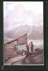 AK Reklame für F. L. Cailleur Chocolat au Lait Suisse, Mer de Glace